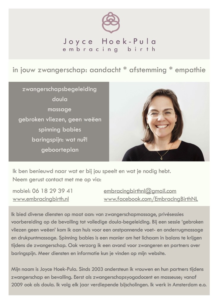Joyce Hoek-Pula ~ Embracing Birth Flyer 2017 NLD - JPEG